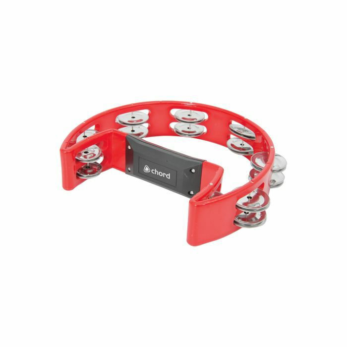 CHORD - Chord Single D Shaped Tambourine (red)
