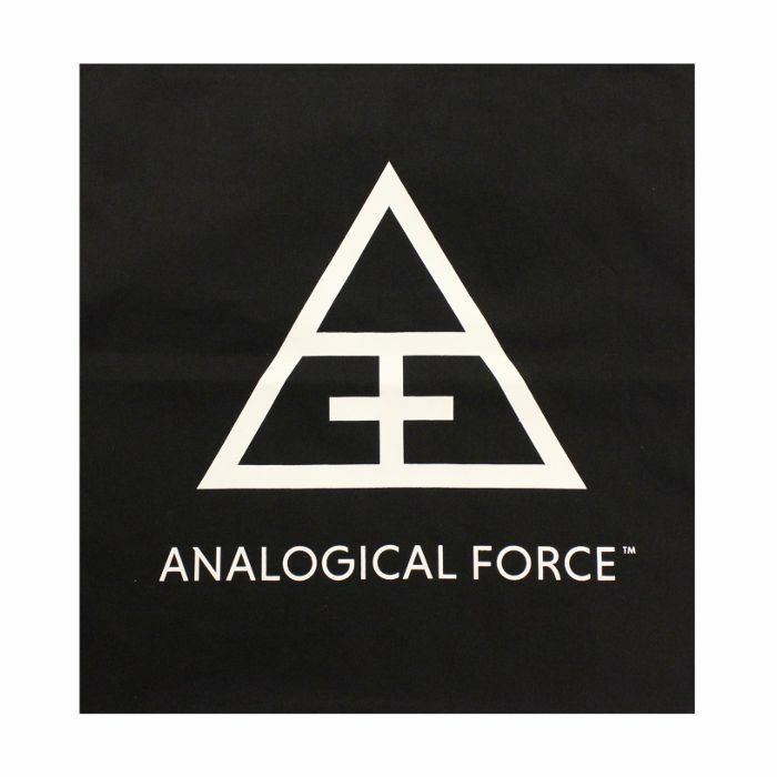 ANALOGICAL FORCE - Analogical Force Logo Totebag (black with white logo print)