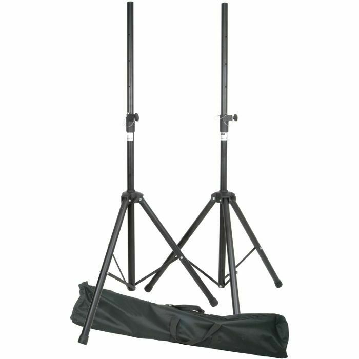 QTX - QTX Steel Speaker Stand Kit With Carry Bag (pair) (B-STOCK)