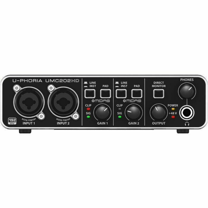 BEHRINGER - Behringer UPhoria UMC202HD Audiophile USB Audio Interface With Tracktion 4 Software (B-STOCK)