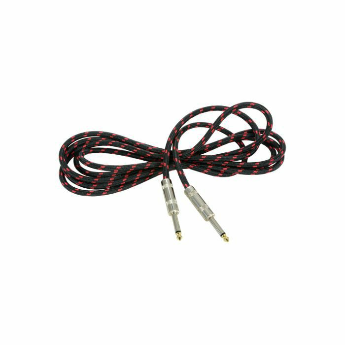 CHORD - Chord 6.3mm Jack Braided Guitar & Instrument Lead (black & red, 3.0m)