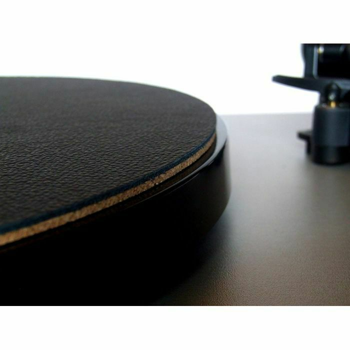 WOODEN BULL - Wooden Bull Leather & Cork Audiophile Turntable Mat (single, black)
