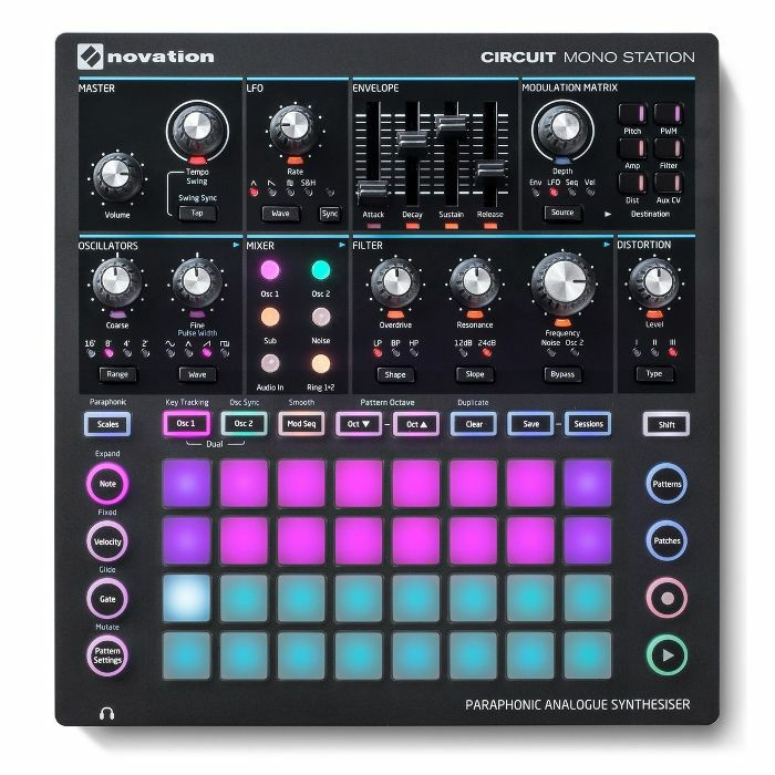 NOVATION - Novation Circuit Mono Station Paraphonic Analogue Synthesizer