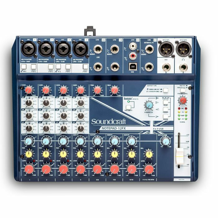 SOUNDCRAFT - Soundcraft Notepad 12FX Small Format Analog Mixing Console With USB I/O & Lexicon Effects