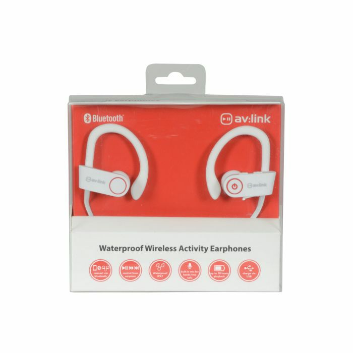 AV LINK - AV Link IPX7 Bluetooth Waterproof Wireless In Ear Headphones (white)