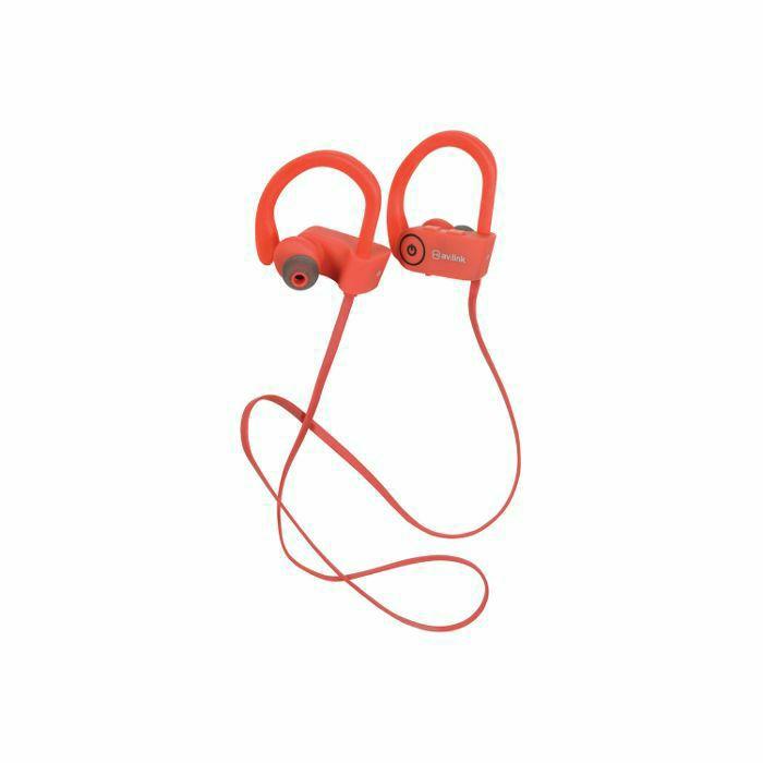 av link ipx7 bluetooth waterproof wireless in ear headphones red ebay. Black Bedroom Furniture Sets. Home Design Ideas