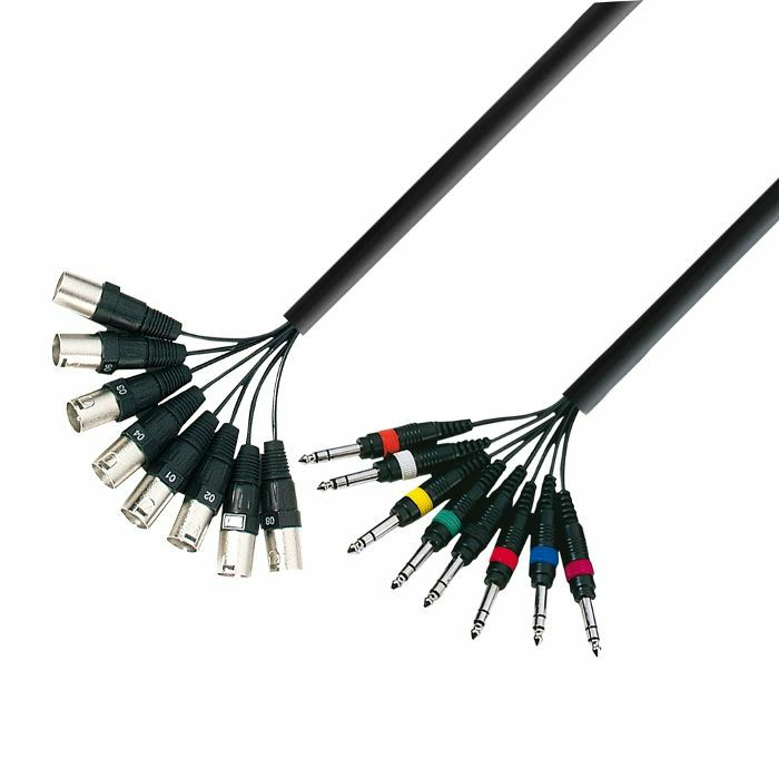 ADAM HALL - Adam Hall 8 x XLR Male To 8 x 6.3mm Jack Stereo Multicore Cable Loom (3.0m)