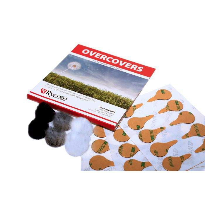 RYCOTE - Rycote Overcovers Adv Lavalier Wind Covers & Stickies (25 Stickies Adv 23mm Round & 5 re-useable grey 26mm fur covers)