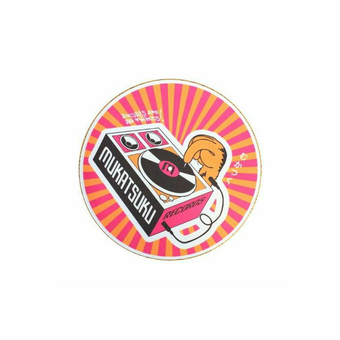 MUKATSUKU - Mukatsuku Records Are Our Friends Orange & Pink Rays 45 Slipmat (single, orange & pink rays) *Juno Exclusive*