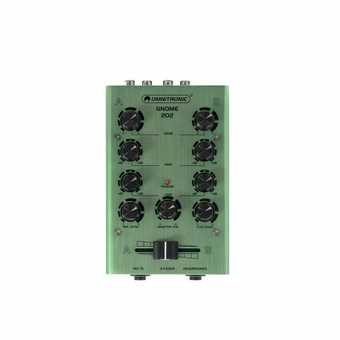OMNITRONIC - Omnitronic Gnome 202 Mini DJ Mixer (green)