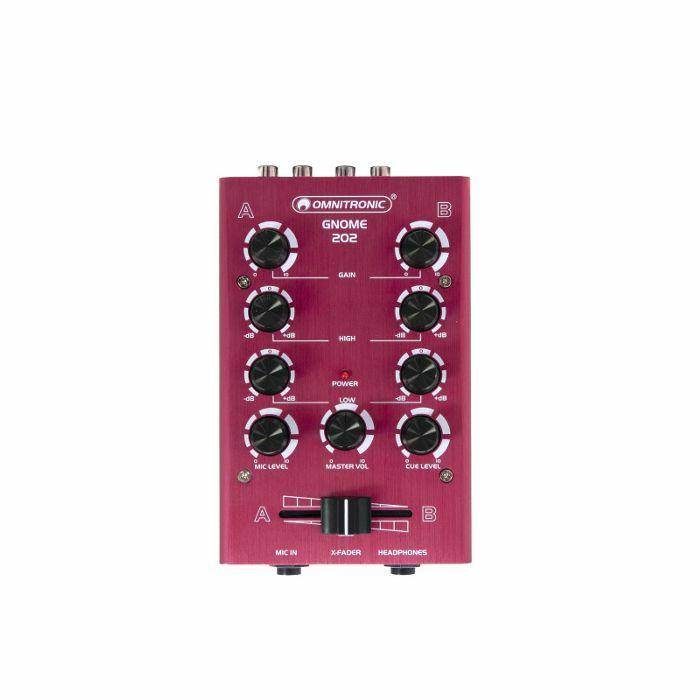 OMNITRONIC - Omnitronic Gnome 202 Mini DJ Mixer (red)