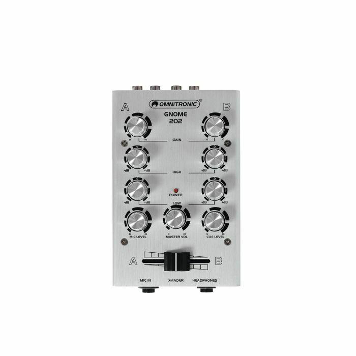 OMNITRONIC - Omnitronic Gnome 202 Mini DJ Mixer (silver)
