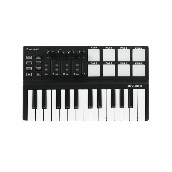 Omnitronic KEY288 USB 25 Mini Key MIDI Controller Keyboard