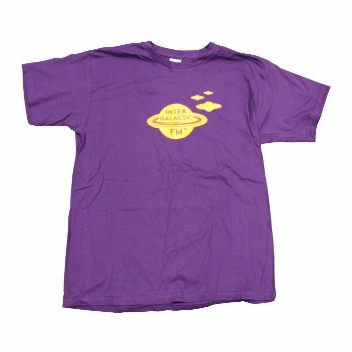 INTERGALACTIC FM - Toxic Nebula T Shirt (purple with yellow print, large)