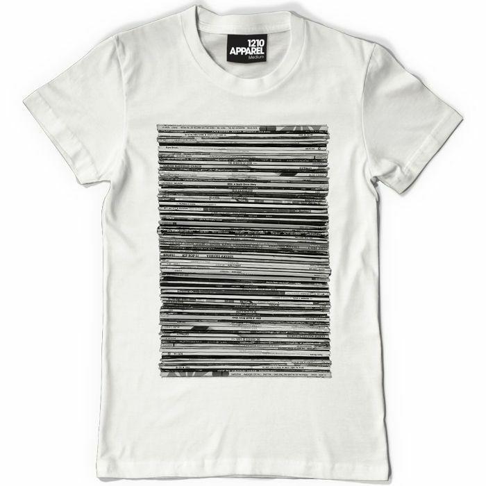 Dmc dmc vinyl junkie t shirt white extra large vinyl at for Extra tall white t shirts