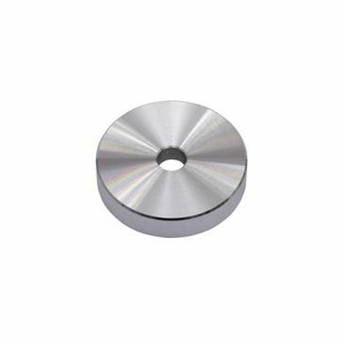 OMNITRONIC - Omnitronic Aluminium Puck Single Centre Piece 45 Adapter (silver)