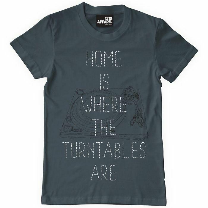 DMC - DMC Home Is Where The Turntables Are T Shirt (charcoal grey, medium)