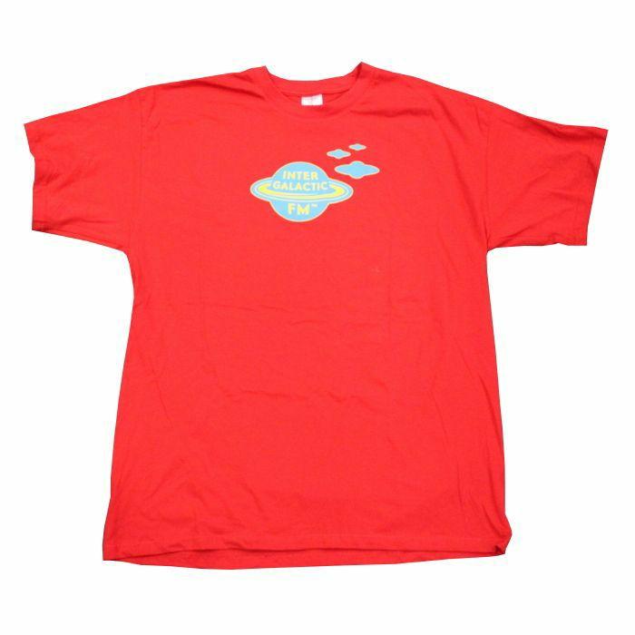 INTERGALACTIC FM - Toxic Nebula T Shirt (red with blue print, extra large)