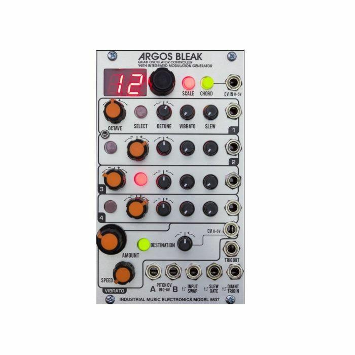 INDUSTRIAL MUSIC ELECTRONICS - Industrial Music Electronics Model 5537 Argos Bleak Quad Oscillator Controller & Integrated Modulation Generator Module