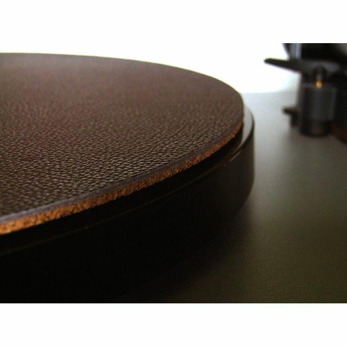 WOODEN BULL - Wooden Bull Leather & Cork Audiophile Turntable Mat (single, light tan)