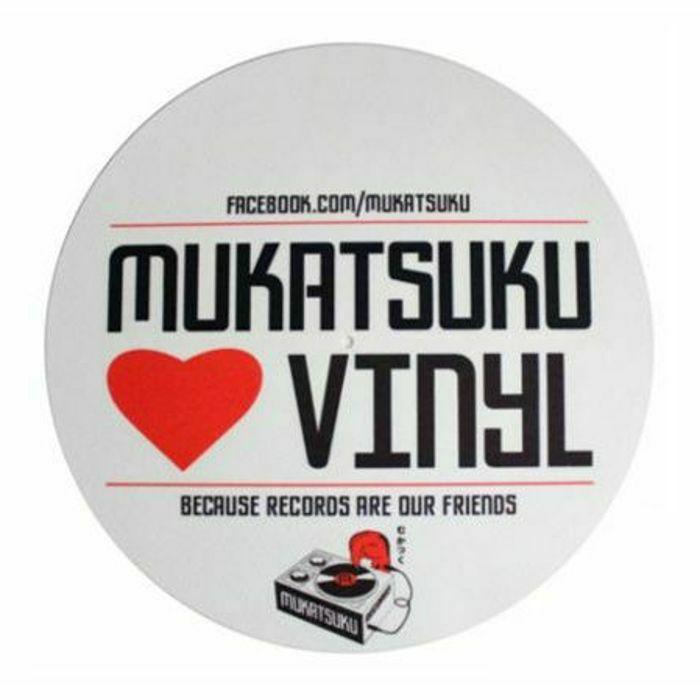 MUKATSUKU - Mukatsuku Loves Vinyl 12'' Slipmat (single red & black design on white slipmat) *Juno Exclusive*