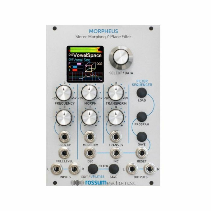 ROSSUM ELECTRO-MUSIC - Rossum Electro-Music Morpheus Stereo Morphing Z Plane Filter Module