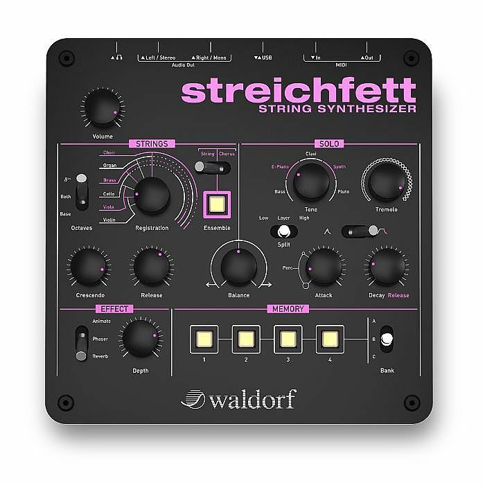 WALDORF - Waldorf Streichfett String Synthesizer With The Waldorf Edition LE Version Software (B-STOCK)