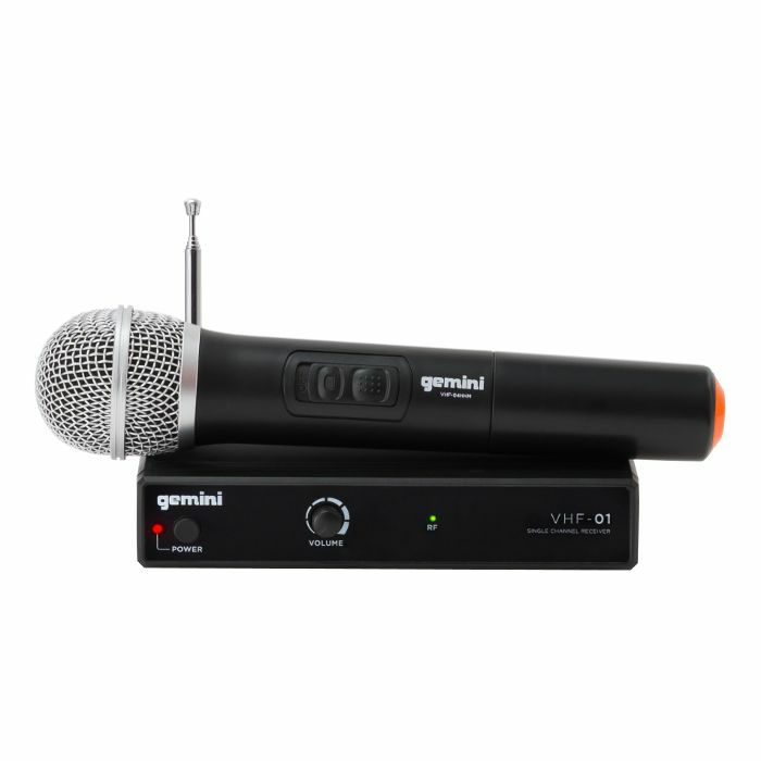GEMINI - Gemini VHF01M Wireless Mic System With Hand Held Microphone