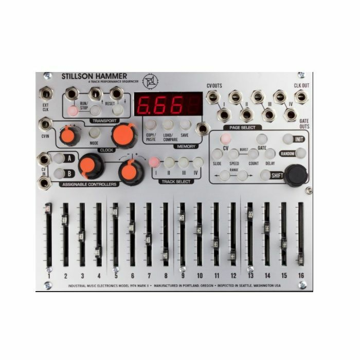 INDUSTRIAL MUSIC ELECTRONICS - Industrial Music Electronics Stillson Hammer MKII 4 Track Control Voltage Sequencer Module