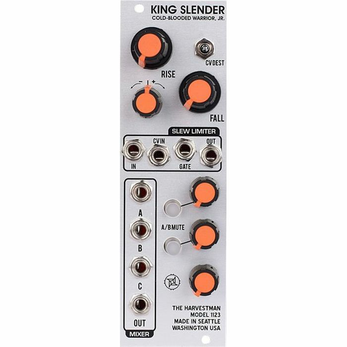INDUSTRIAL MUSIC ELECTRONICS - King Slender 3 Input Utility Mixer & VC Slew Limiter Module