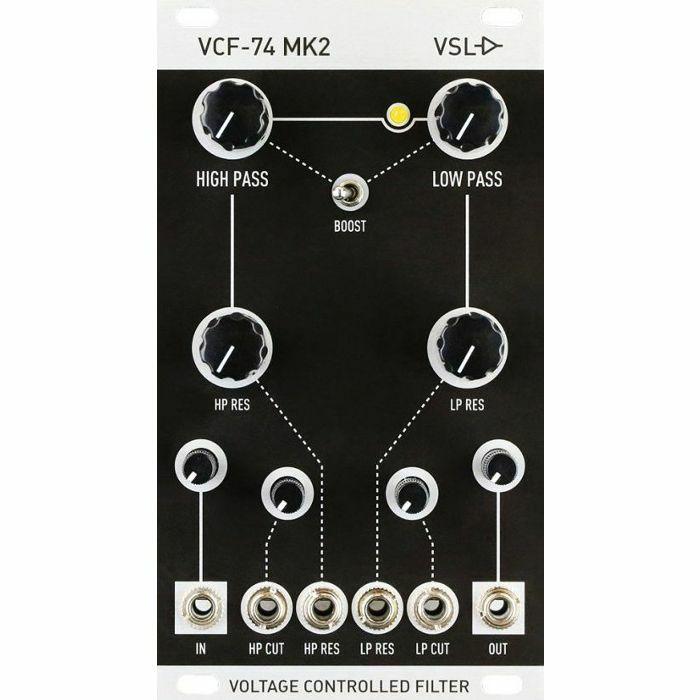 VINTAGE SYNTH LAB - Vintage Synth Lab VCF74 MK2 Analog Voltage Controlled Filter Module