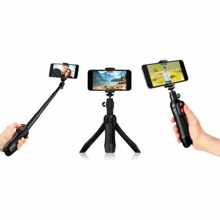 IK MULTIMEDIA - IK Multimedia iKlip Grip Pro Smartphone & Camera Stand / Selfie Pole With Bluetooth Shutter Control