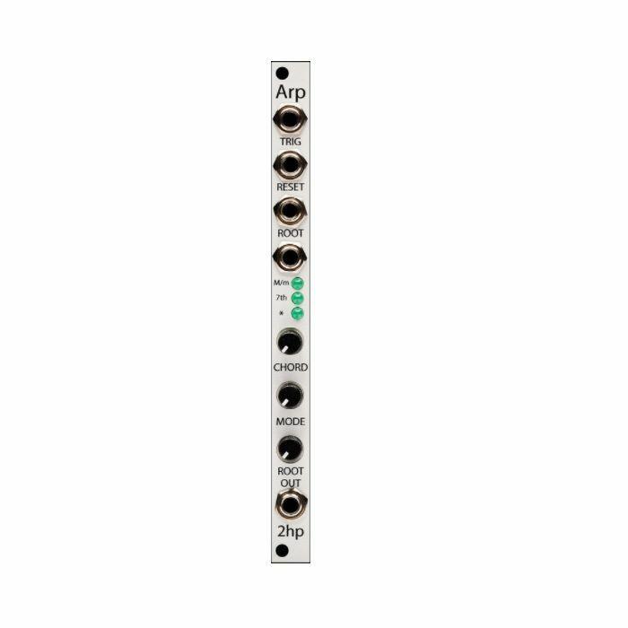 2HP - 2hp Arp Quantized Chord Arpeggiator Module (silver faceplate)