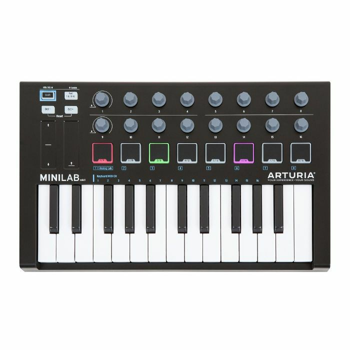 ARTURIA - Arturia MiniLab MKII USB Controller Keyboard & Software Bundle (limited black edition)