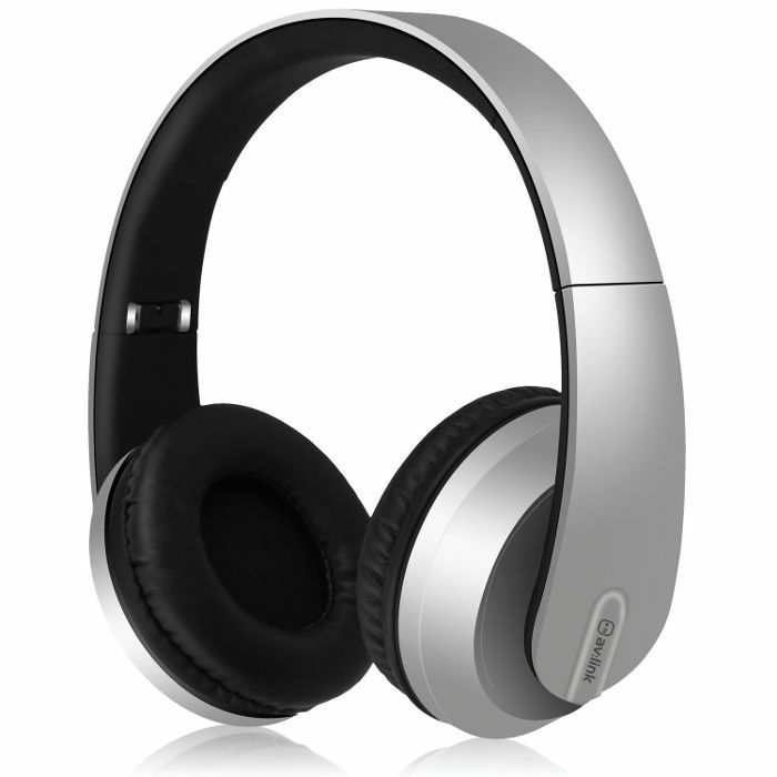 AV LINK - AV Link Satin Finish Bluetooth Headphones (silver)