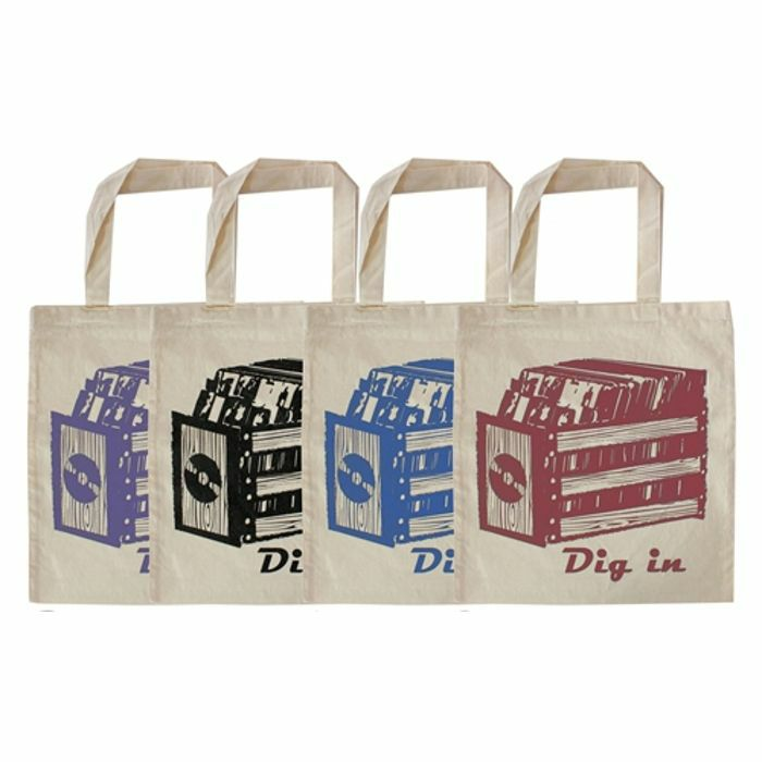 URP - Dig In Record Tote Bag (blue ink)
