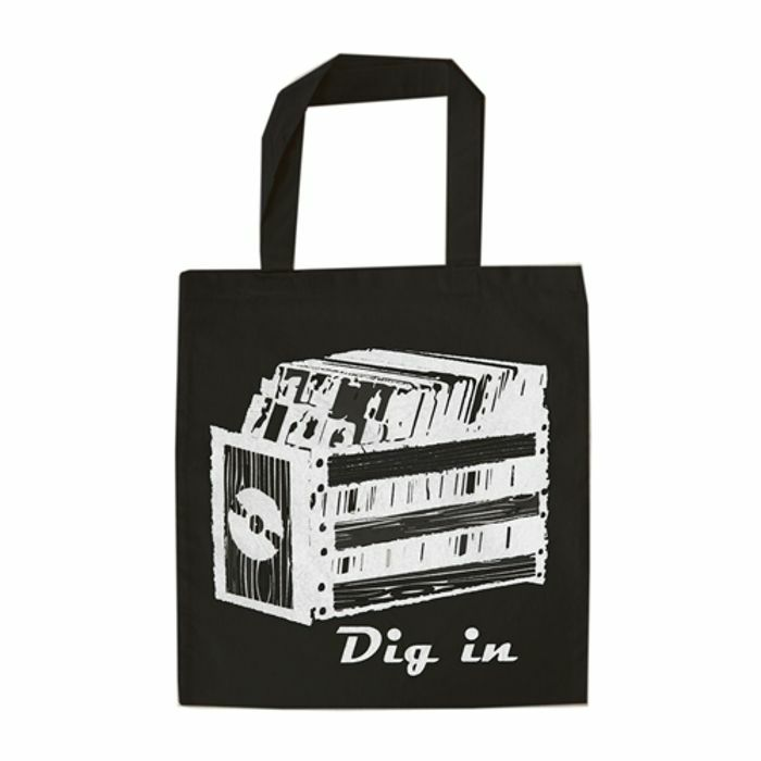 URP - Dig In Record Tote Bag (white ink)