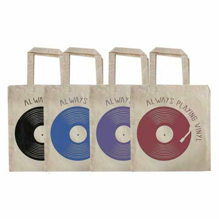 URP - Always Playing Vinyl Tote Bag (black ink)