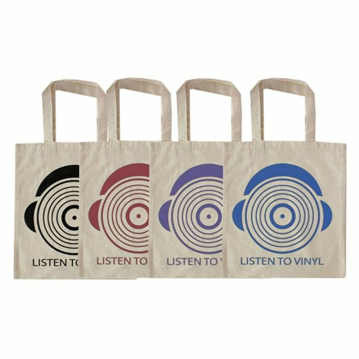 URP - Listen To Vinyl Tote Bag (blue ink)
