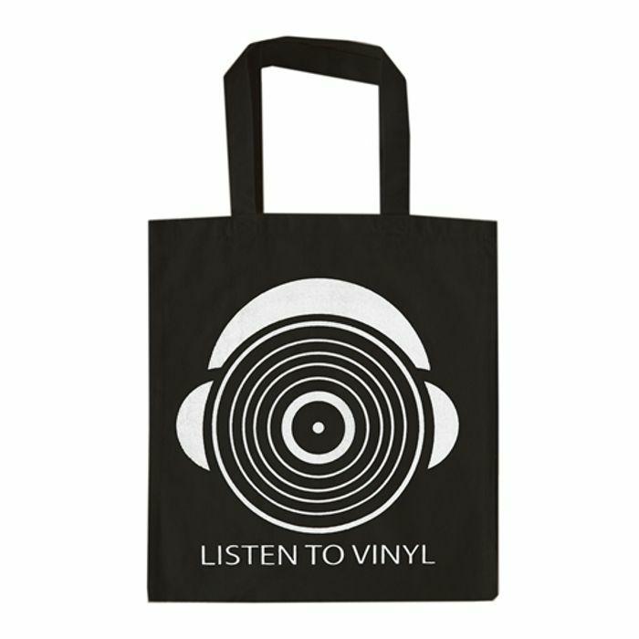 URP - Listen To Vinyl Tote Bag (white ink)