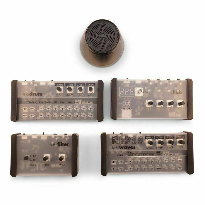 PATCHBLOCKS - Patchblocks Minijam Tek Studio (includes: tek drum machine, tek waves synthesizer, tek filter, hub mixer & boom speaker)