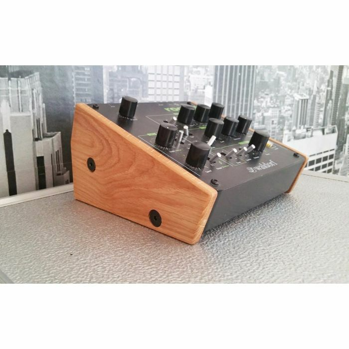 SYNTHS & WOOD - Synths & Wood Solid Oak End Cheeks Stand For Waldorf Rocket, Streichfett Or 2 Pole Filter