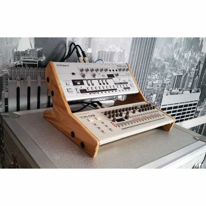 SYNTHS & WOOD - Synths & Wood Solid Oak End Cheeks Dual Stand For Roland Boutique Series Synthesiser