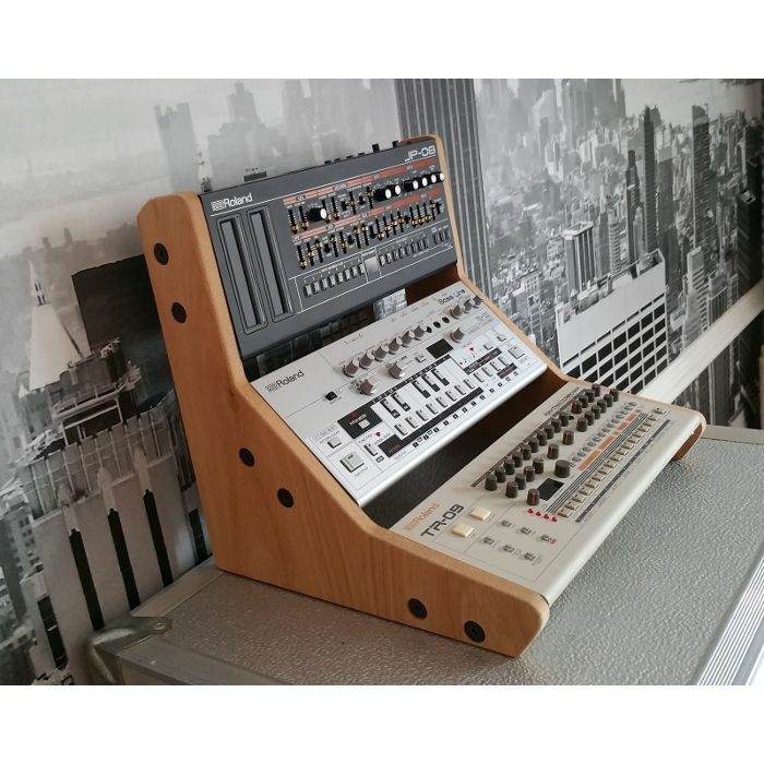 SYNTHS & WOOD - Synths & Wood Oak Veneer End Cheeks Stand For Triple Roland Boutique