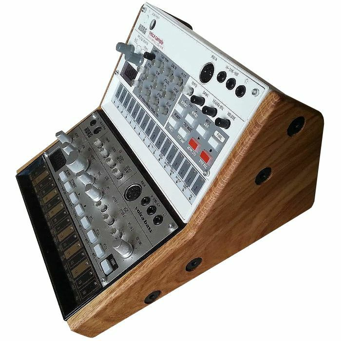 SYNTHS & WOOD - Synths & Wood Solid Oak End Cheeks Dual Stand For Korg Volca Series Synthesiser