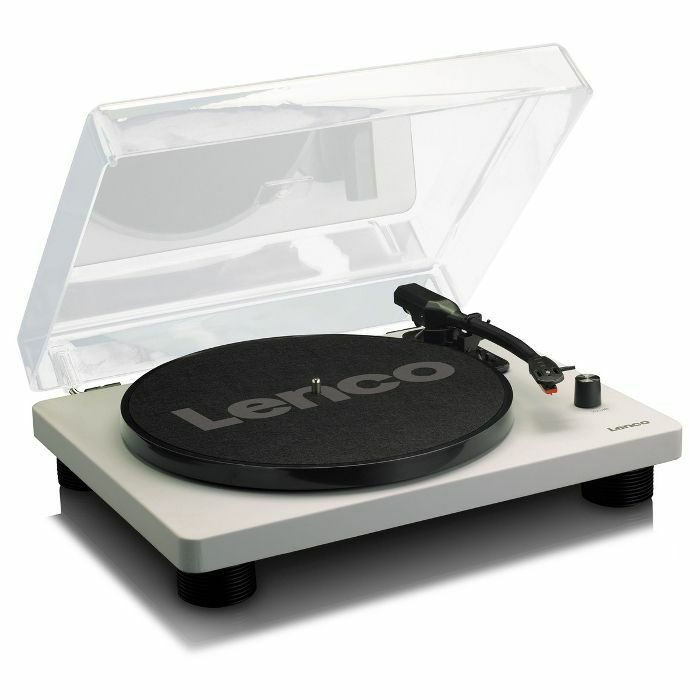 LENCO - Lenco LS50 Wooden USB Turntable With Built In Speakers (grey)