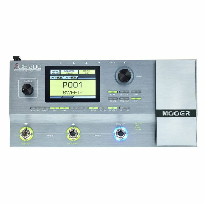 82200168338 MOOER Mooer GE200 Amp Modelling   Multi Effects Pedal vinyl at Juno ...