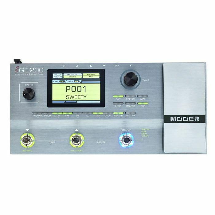 MOOER - Mooer GE200 Amp Modelling & Multi Effects Pedal