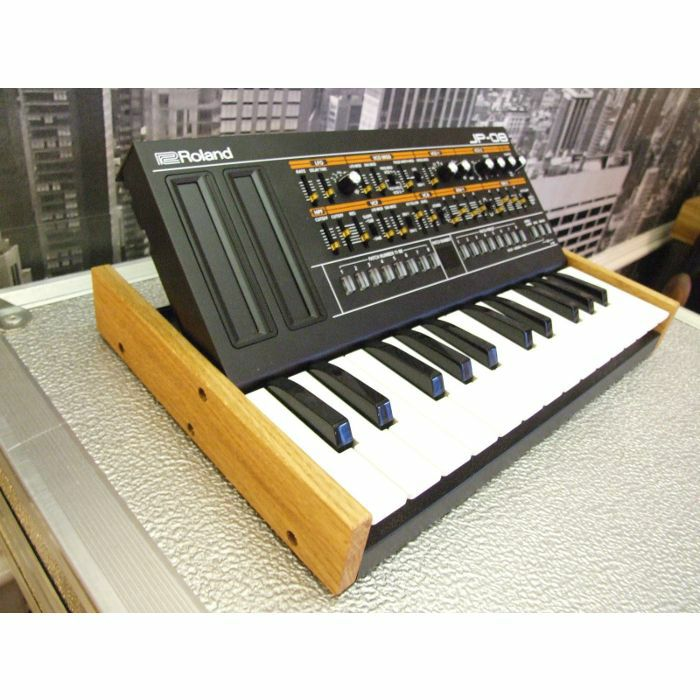 SYNTHS & WOOD - Synths & Wood Solid Oak End Cheeks Stand For Roland Boutique K25M Keyboard & Module