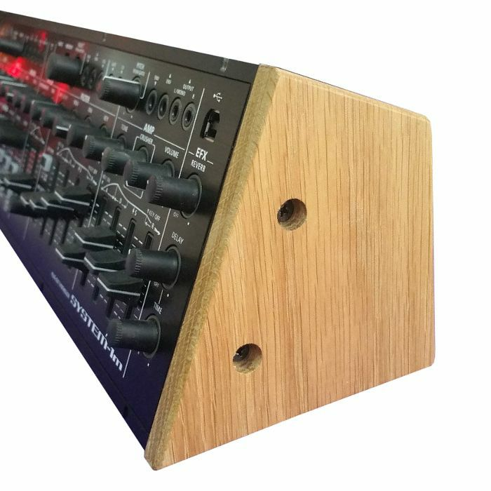 SYNTHS & WOOD - Synths & Wood Solid Oak End Cheeks Stand For Roland System 1M Synthesiser